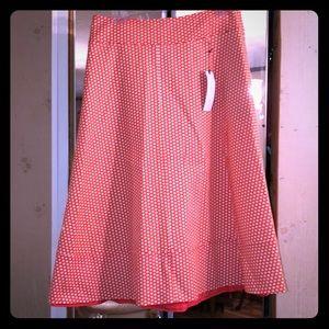 Dresses & Skirts - Lane Bryant Orange Polkadot Skirt
